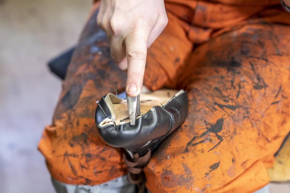Arbeit an der Nähmaschine