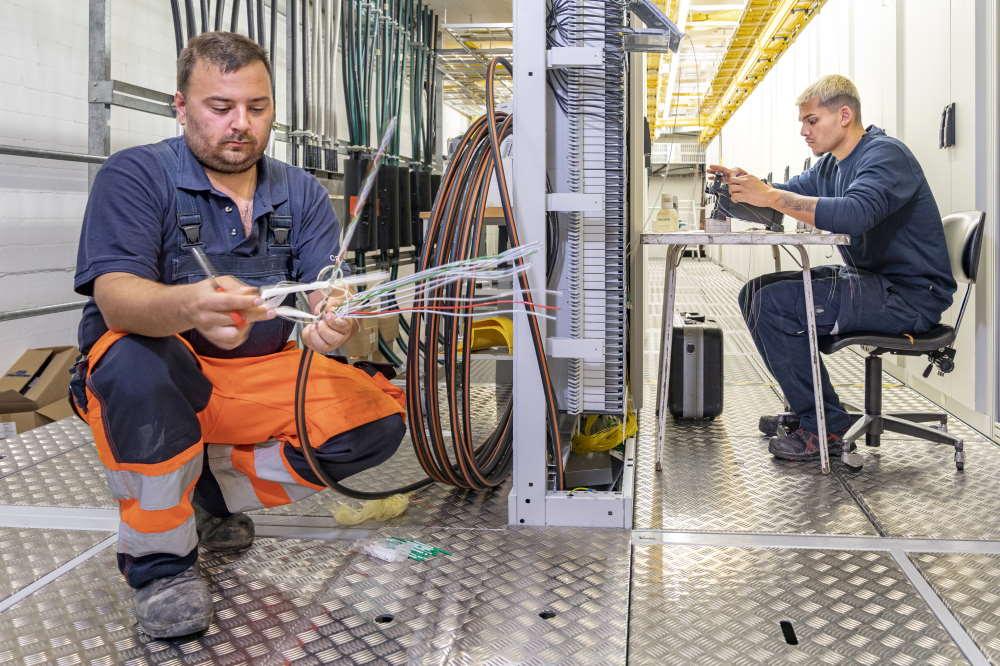 Strassenbeleuchtung installieren