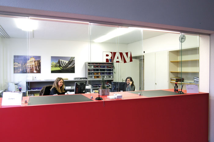 Umgestalteter Empfang im RAV: Ausdruck neuer kultureller und strategischer Grundlagen. (Bild: zvg)