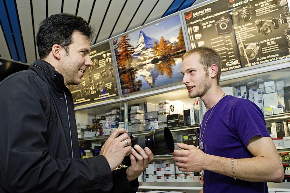 Verkauf von Kameras