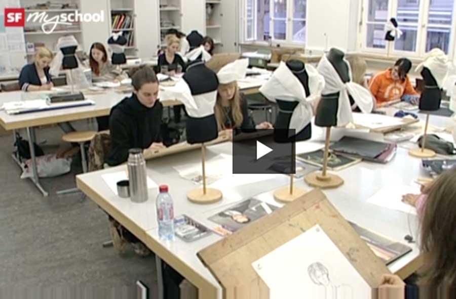 Bekleidungsgestalter/in EFZ – Film mit Porträt einer Lernenden
