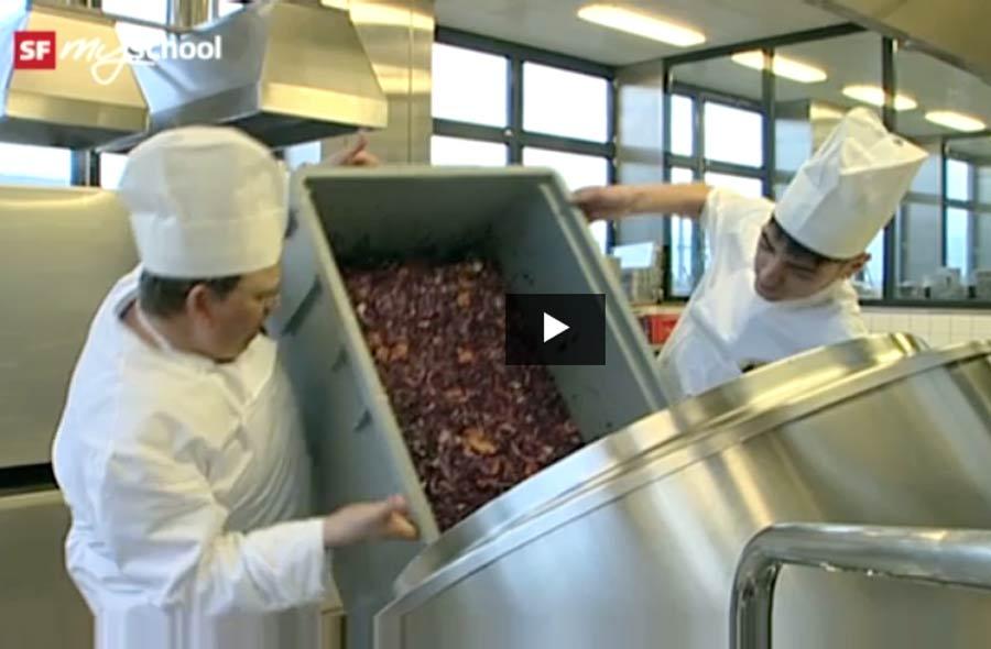 Küchenangestellte/r EBA – Film mit Porträt eines Lernenden