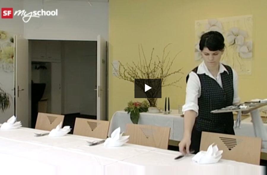 Restaurationsfachmann/-fachfrau EFZ – Film mit Porträt einer Lernenden