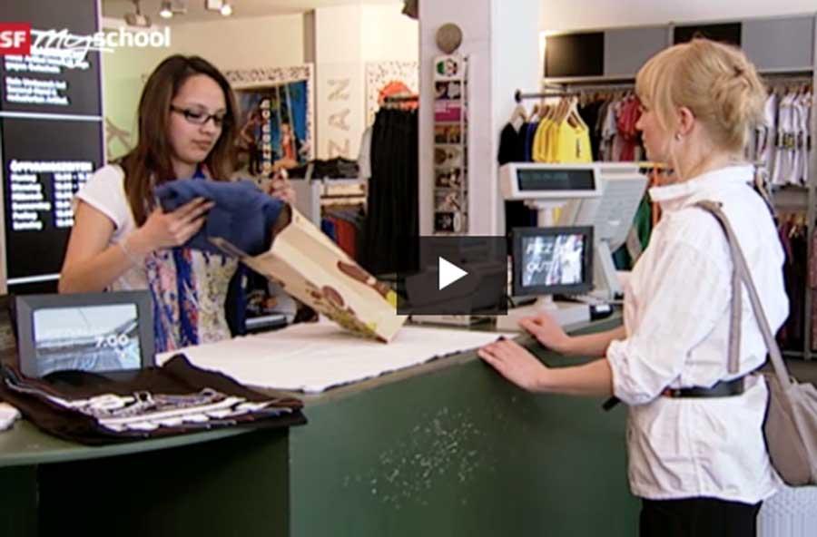 Detailhandelsfachmann/-frau EFZ Textil – Berufsfilm mit Porträt einer Lernenden