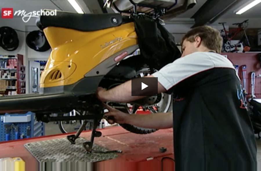 Fahrradmechaniker/in EFZ (Bis 2011: Zweiradmechaniker/in EFZ Fachrichtung Fahrräder) – Film mit Porträt eines Lernenden