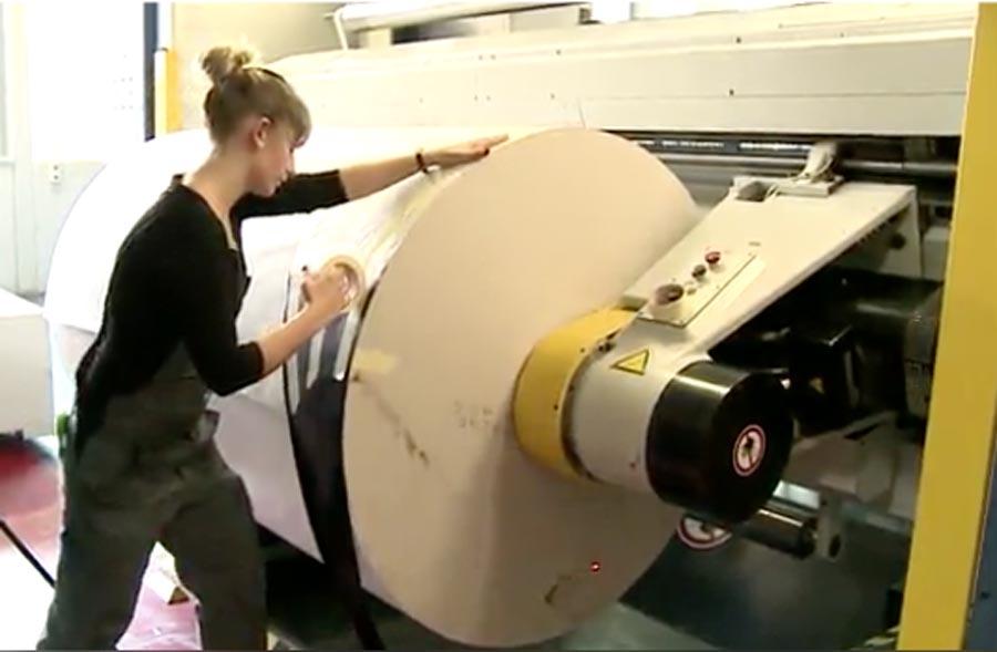 Drucktechnologe/-login EFZ, Fachrichtung Rollendruck - Clip