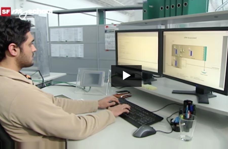 Informatiker/in EFZ (Applikationsentwicklung) – Film mit Porträt eines Lernenden