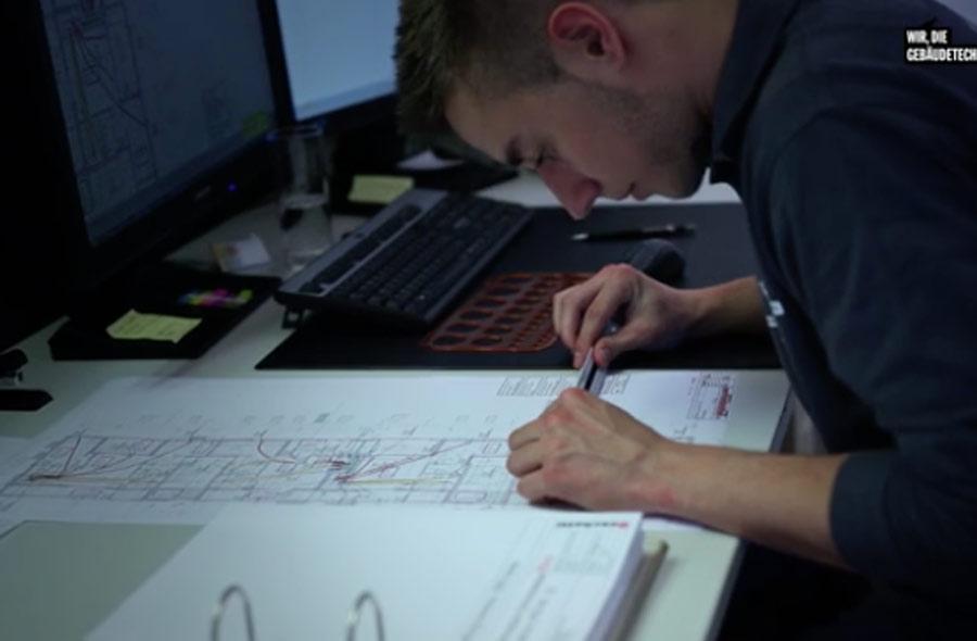 Gebäudetechnikplaner/in EFZ – Berufsfilm mit Porträts von Lernenden