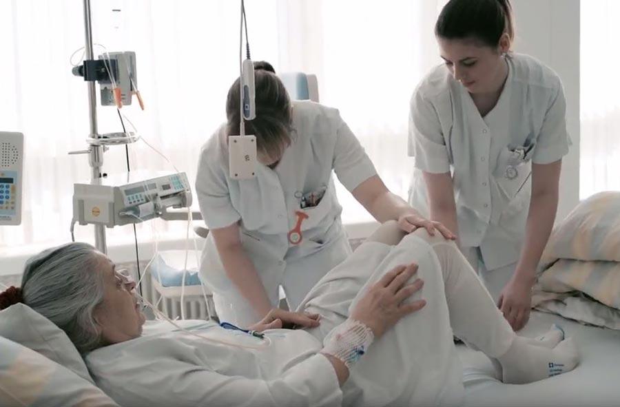 Pflegefachmann/-fachfrau HF – Film mit Porträts von Berufstätigen