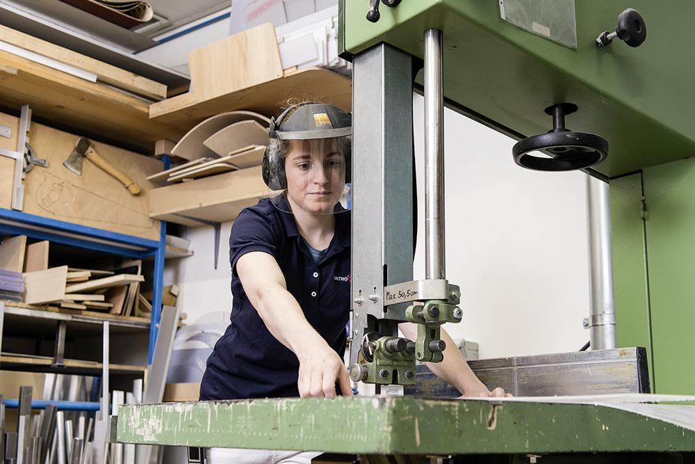 Vorbereiten der Materialien und Teile