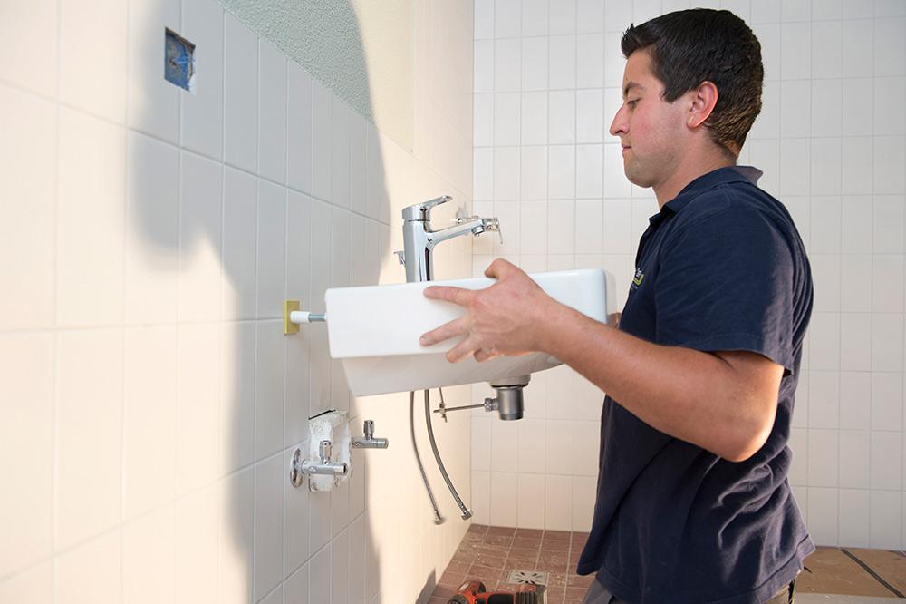 Keramikelemente installieren