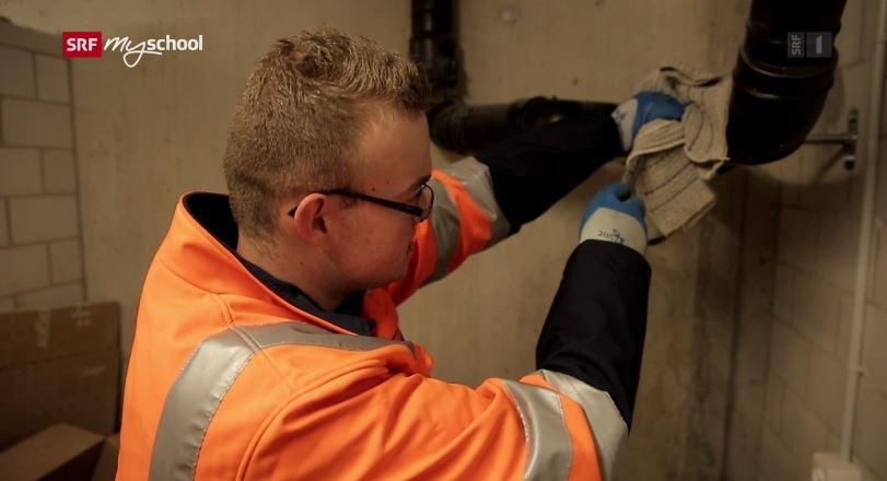 Entwässerungspraktiker/in EBA – Film mit Porträt eines Lernenden