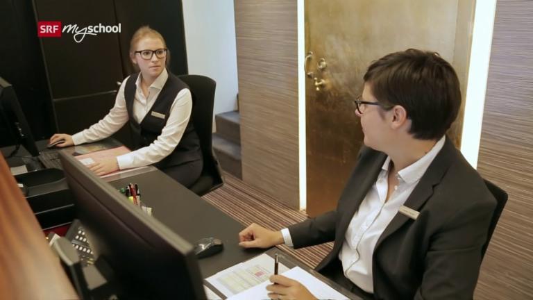 Kaufmann/Kauffrau EFZ (Hotel-Gastro-Tourismus HGT) – Film mit Porträt einer Lernenden