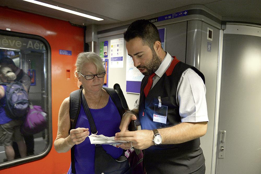 Fahrgäste informieren