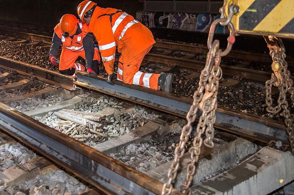 Gleisstücke ersetzen und neu verlegen