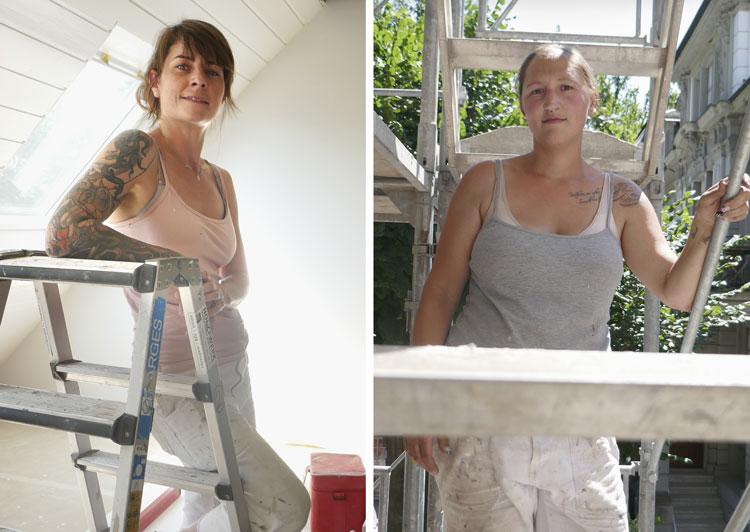 Susan Felix und Susan Portmann arbeiten gerne als Malerinnen. Sie sind zwei von sieben Mitarbeiterinnen im Frauenteam Mona Lisa.  (Bild: Daniel Fleischmann)