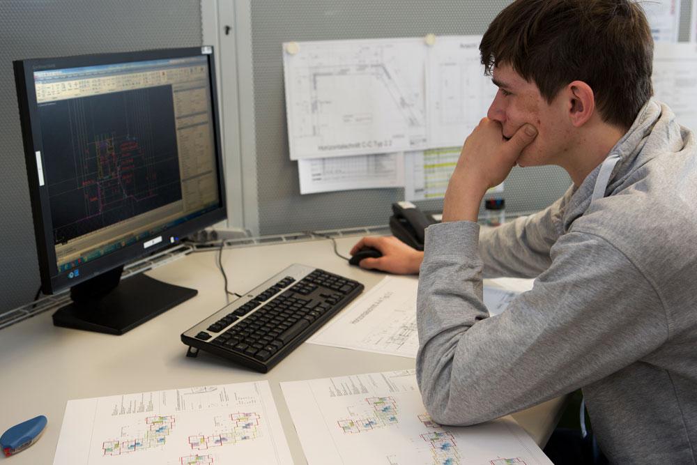 Zeichnen von Konstruktionsplänen