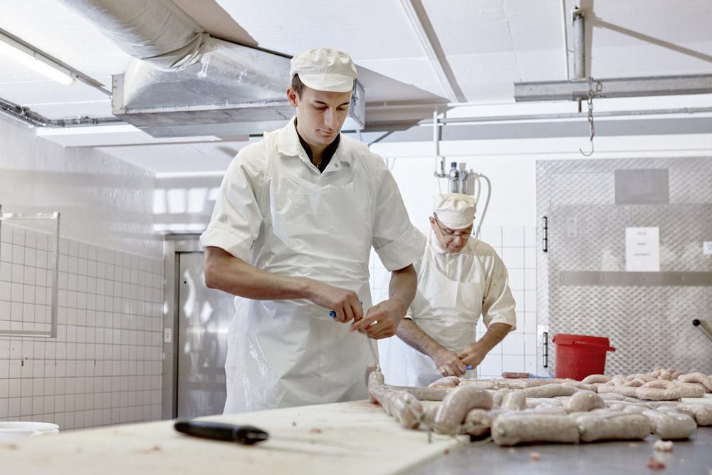 Herstellung von Wurstwaren