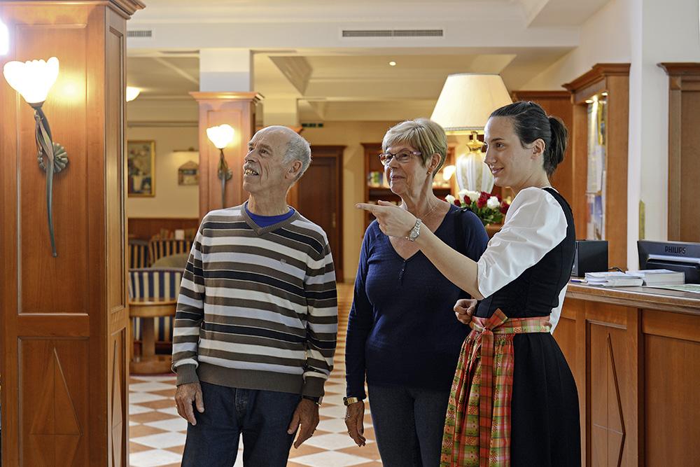 Gästebetreuung und Réception