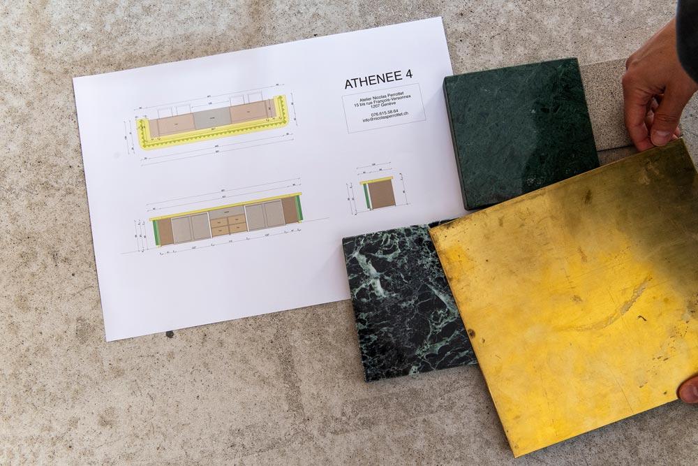Materialien und Design auswählen
