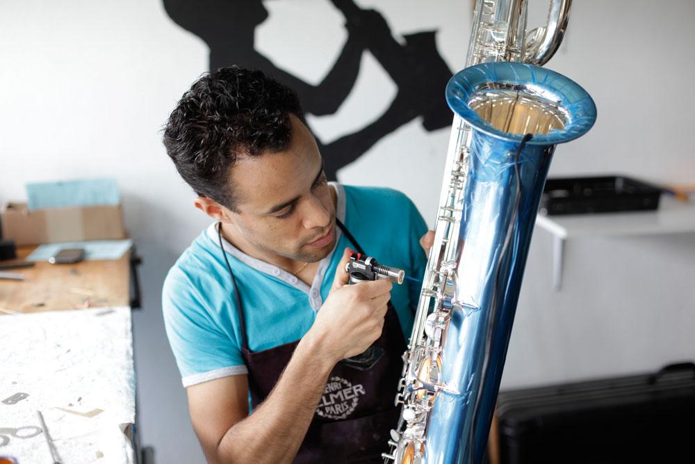 Reparatur oder Anpassung des Instruments