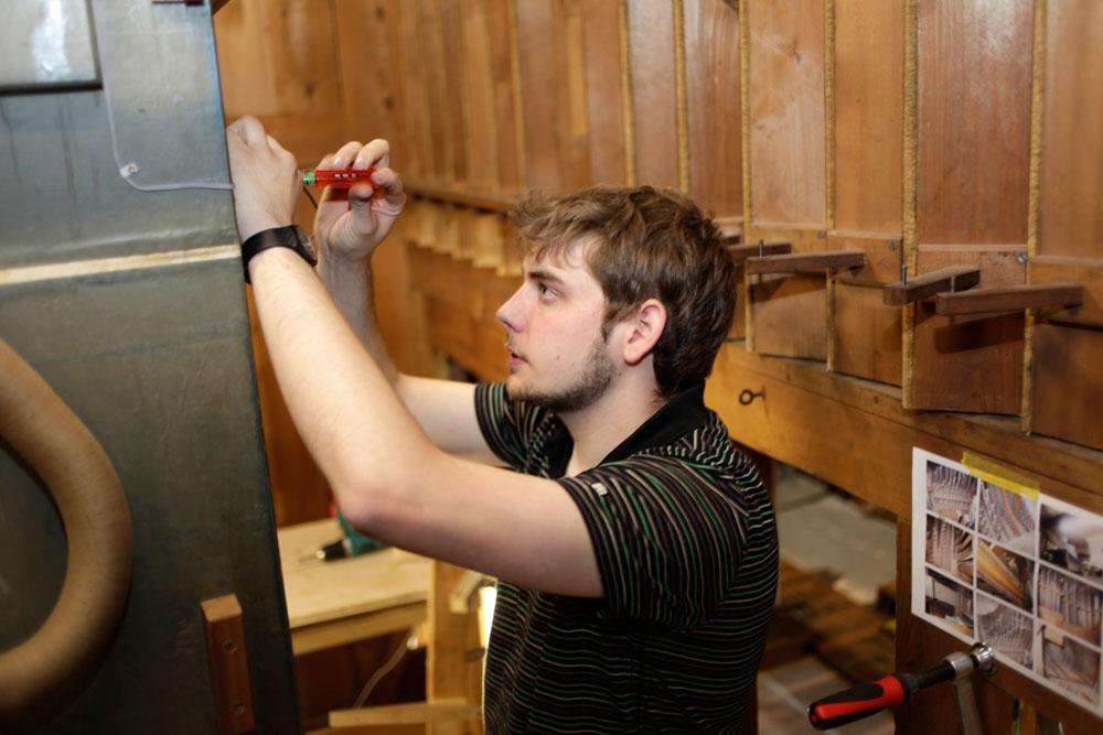 Installieren der Instrumente vor Ort