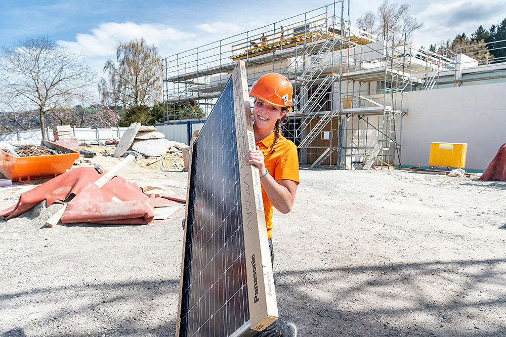 Montage d'installations solaires