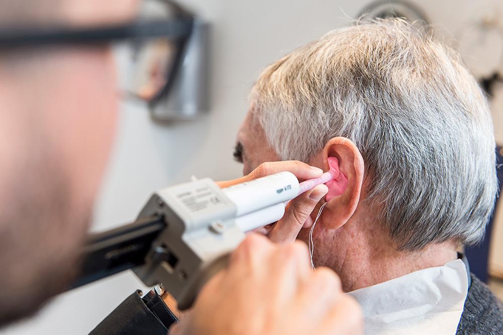 Prendre une empreinte du conduit auditif