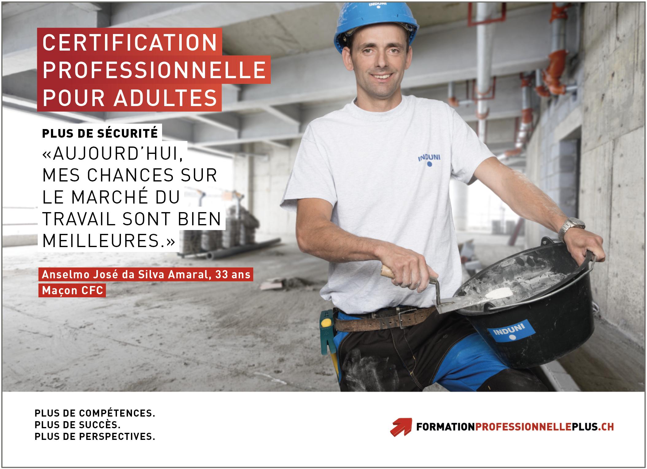 À l'instar des campagnes de pub, les tableaux de prise en compte des acquis sont un moyen d'encourager les adultes à obtenir une certification professionnelle. (Photo: SEFRI)