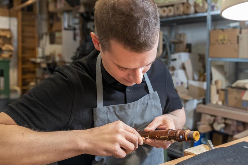Réparer une flûte traversière