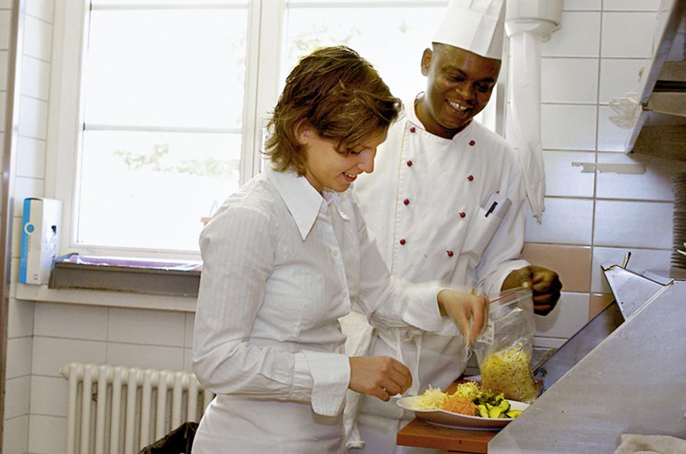 Préparation de plats simples