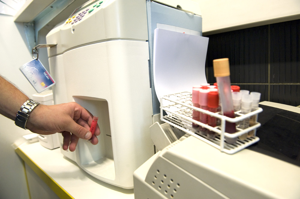 En laboratoire