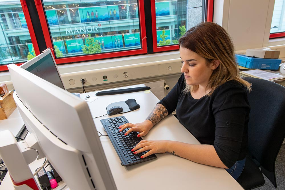 Travail à l'ordinateur