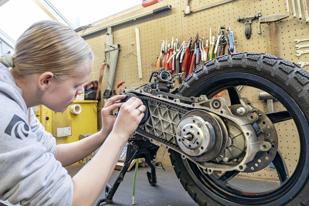 Riparare il motore e la trasmissione