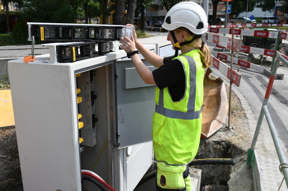 Istallazione di cavi sotterranei