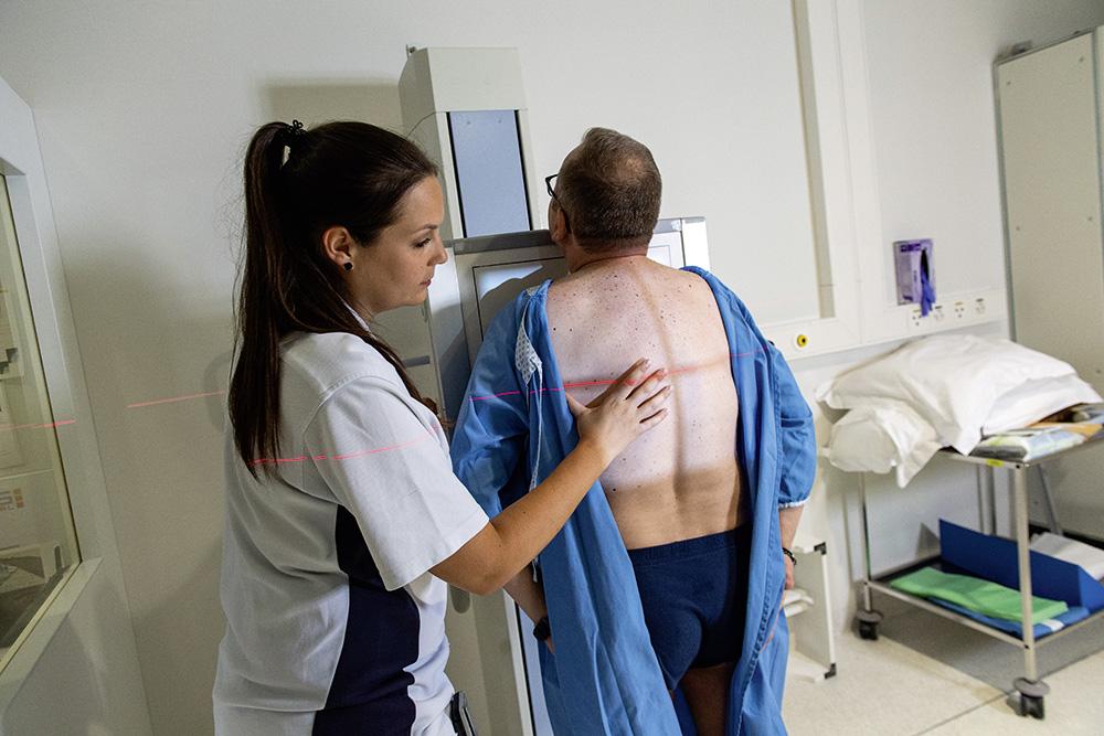 Posizionare il paziente