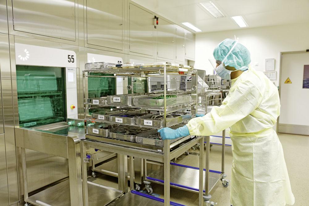 Pulizia e sterilizzazione dei macchinari